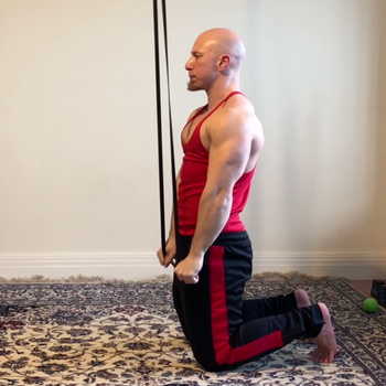Band Straight Arm Pull Down