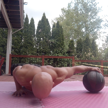 Assisted One Arm Push Up